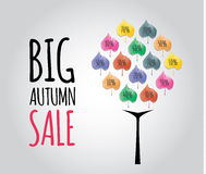 Big autumn sale with beautiful colorful leaves. Royalty Free Stock Image