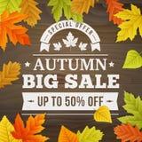 BIG autumn sale business  background Stock Photos