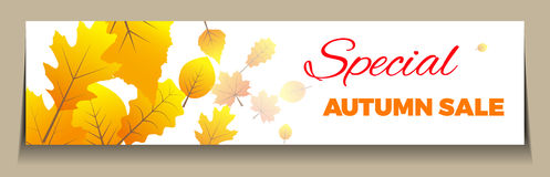 Big Autumn sale. Can be used for flyers, banners or posters. Horizontal version Royalty Free Stock Photos