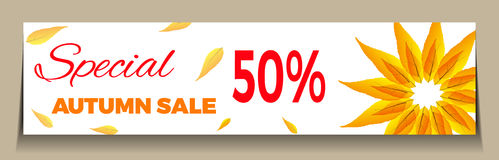 Big Autumn sale. Can be used for flyers, banners or posters.Vector design for your business illustration Royalty Free Stock Photography