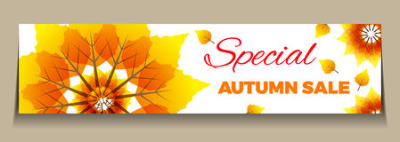 Big Autumn sale. Can be used for flyers, banners or posters.Vector design for your business illustration Stock Photos