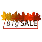Big Autumn sale. Fall sale design. Three banners Stock Images