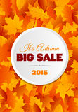 Big Autumn Sale Flyer Design Royalty Free Stock Photo