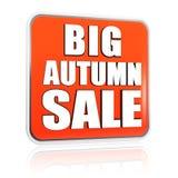 Big autumn sale orange banner Stock Photo