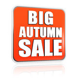 Big autumn sale orange banner Stock Photo