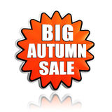 Big autumn sale orange star banner Royalty Free Stock Photo