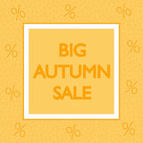 BIG AUTUMN SALE square banner. Fashion modern style. Geometric design. Stock Photography