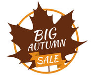 Big Autumn Sale. Vector - illustration Royalty Free Stock Images