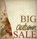 Big autumn sale wallpaper, vector Royalty Free Stock Images