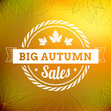 Big autumn sales vintage  typography poster Royalty Free Stock Photo
