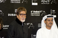 Big B with DIFF Chairman Abdul Hamid Juma Stock Photos