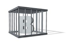 Big b in prison Royalty Free Stock Photos