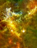 Big Babies in the Rosette Nebula Enhanced Universe Image Elements From NASA / ESO | Galaxy Background Wallpaper stock illustration