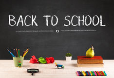 Big back to school writing concept Royalty Free Stock Photos