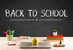 Big back to school writing concept Royalty Free Stock Photography