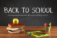 Big back to school writing concept Royalty Free Stock Photo