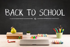 Big back to school writing concept Royalty Free Stock Images