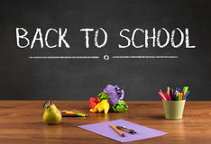 Big back to school writing concept Stock Image