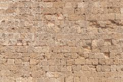 Big background rock cube block cement damage castle wall architecture. Pattern Royalty Free Stock Photos