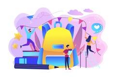 Back to school celebration concept vector illustration. vector illustration