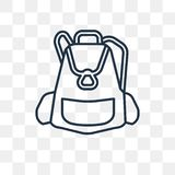 Big Backpack vector icon isolated on transparent background, lin royalty free illustration