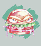 Big bad burger Royalty Free Stock Photos