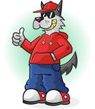 Big Bad Wolf Giving a Thumbs Up Stock Photography