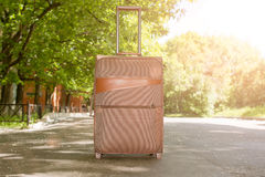 Big bag in the city and travel Royalty Free Stock Photo