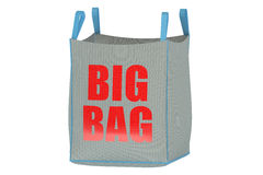 Big bag 3D Royalty Free Stock Photos
