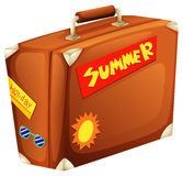 A big bag for a summer vacation Royalty Free Stock Photo