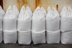 Big bags of salt Stock Photos