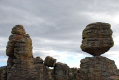 Big Balanced Rock in Chiricahua Mountains Stock Photos