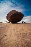 Big balancing rock at Mahabalipuram stock images