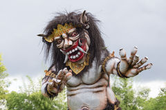 Big Balinese ogoh ogoh monster at Balinese New Year , Indonesia. Close up Royalty Free Stock Photos
