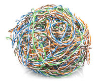 Big ball from a cable twisted pair Stock Photos