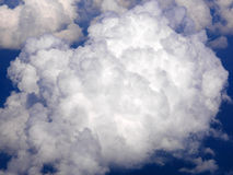 Big ball of clouds in aerial view on blue sky Royalty Free Stock Photos