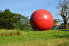 Big ball in the park Royalty Free Stock Images