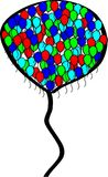 Big balloon. Consists of smaller colored ones Royalty Free Stock Photos