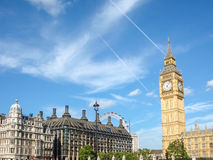 Big Ban Elizabeth tower clock face, Palace of Westminster, Londo Stock Images
