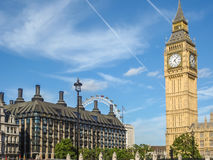 Big Ban Elizabeth tower clock face, Palace of Westminster, Londo Stock Photos