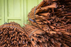 Big banch of cinnamon sticks Royalty Free Stock Images