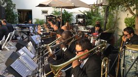 Big band del jazz de Revolucion Imagen de archivo