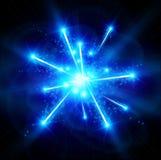 Big Bang bleu Photo libre de droits