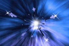 Big Bang de pleuvoir l'illustration de flèches Image libre de droits