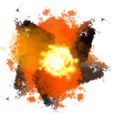 Big bang explosion Stock Images