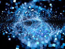 Big bang of future technologies. Computer generated abstract background, square particles Stock Photo