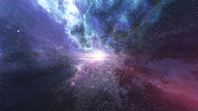 Big bang with futuristic sparkling lightning lines Stock Photo