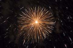 "Big Bang. Great fireworks explosion illustrates€"" the power of pyrotechnics Royalty Free Stock Photos"