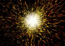Big Bang. Illustration of the Begining of the Universe Royalty Free Stock Image