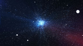 Big Bang impressionnant avec les étoiles lumineuses dans l'espace Image libre de droits